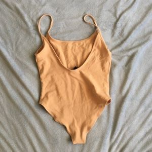 Nwot backless nude bodysuit